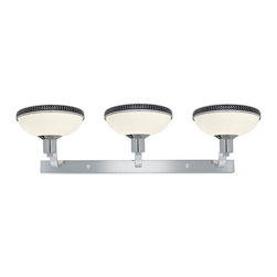 Access Lighting - Access Lighting Onyx 3-lt Wall/ Vanity - Close out prices. While supplies lastContemporary 3-lt Crystal Beads Wall/Vanity in Chrome finish. Available with opal glass.
