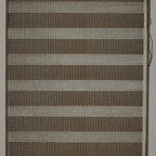 "CustomWindowDecor - 60"" L, Basic Dual Shades, Brown, 70-1/8"" W - Dual shade is new style of window treatment that is combined good aspect of blinds and roller shades"