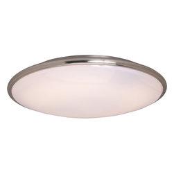 Maxim Lighting - Maxim Lighting 87211SN Rim EE 2-Light Flush Mount - Maxim Lighting 87211SN Rim EE 2-Light Flush Mount