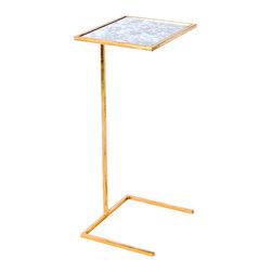 Worlds Away - Worlds Away Cigar Table Gold Square - Worlds Away Cigar Table Gold Square