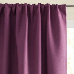Serena & Lily - Chunky Linen Window Panel Plum - If there's a look that says casual elegance, linen panels may be it. Ours are woven of slightly thicker linen for just the right amount of drape, and have the wonderfully soft feel of washed linen. A blackout lining prevents unwanted light and provides extra insulation.