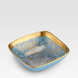Michael Wainwright - Amalfi Turquoise Nut Dish - This lovely little bowl from Michael Wainwright is a lovely splurge. Your giftee will want to leave it out as part of a tablescape whether it has some snacks in it or not. Also available in coral and gold.