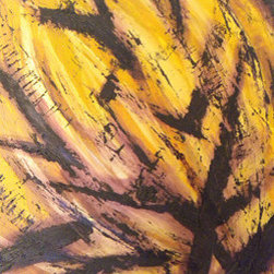 "Bushfire (Original) by Amanda Phipps - This painting is an original work by Phoenix artist Amanda Phipps and is titled ""Bushfire."" It measures 16""x20"""", is 1.5"" deep, and is painted with high-quality oil and acrylic on panel board."