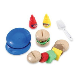 Step2 - Step 2 Stack N' Stay Hamburgers Play Set - With the Stack 'n Stay Hamburger play food set, little chefs will have a yummy time serving up all different types of delicious hamburgers. The clever, stackable design ensures that pieces stay together and stay in place while serving hungry guests.