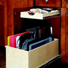 Contemporary Cabinet And Drawer Organizers by ShelfGenie of Austin
