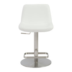 Euro Style - Sierra Adjustable Bar/Counter Stool - Everything is right where it should be including an easy to use lever to adjust the height and a sturdy footrest in brushed stainless steel. Take a seat at the bar or the counter and get comfortable.