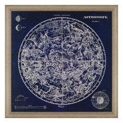Paragon - Celestial Blueprint - Framed Art - Each product is custom made upon order so there might be small variations from the picture displayed. No two pieces are exactly alike.