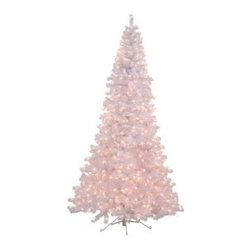 7.5 ft. White Half Corner Pre-Lit Half Christmas Tree - The 7.5 ft. White Half Corner Pre-Lit Christmas Tree is made to save space while giving your decor a wonderful wintery look. Its half design lets you set it up flush to a wall or corner, perfect for smaller spaces. Festive clear mini-lights add a warm glow to your setting while beautiful white branches add a crisp and cool style to any space.Don't Forget to Fluff!Simply start at the top and work in a spiral motion down the tree. For best results, you'll want to start from the inside and work out, making sure to touch every branch, positioning them up and down in a variety of ways, checking for any open spaces as you go.As you work your way down, the spiral motion will ensure that you won't have any gaps. And by touching every branch you'll create the desired full, natural look.About VickermanThis product is proudly made by Vickerman, a leader in high quality holiday decor. Founded in 1940, the Vickerman Company has established itself as an innovative company dedicated to exceeding the expectations of their customers. With a wide variety of remarkably realistic looking foliage, greenery and beautiful trees, Vickerman is a name you can trust for helping you create beloved holiday memories year after year.