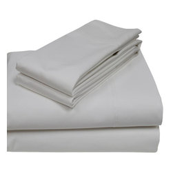 800 Thread Count Egyptian Cotton Sheet Set Full White - Enjoy an Experience of a true luxury and a cool comfortable night's sleep with exceptionally thin breathable Sheet set that have a silky soft feel and a lustrous finish. This 100% Egyptian cotton fabric sheet set provides a lasting vibrancy of color no matter how often they are washed. Soft to the touch, easy care.
