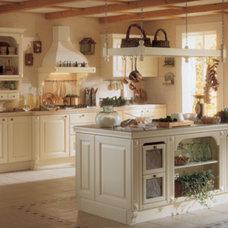 Mediterranean Kitchen Cabinetry by Rebecca Moore Design, LLC