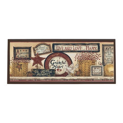 illumalite Designs - Inspirational Signs Plaque - This charming country themed plaque is the perfect addition to any room. Measuring 10.25 in. by 25 in., this plaque is the ideal size to add a country touch to any wall. The hand painted brown border highlights the beautiful design
