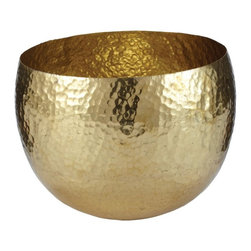 Lazy Susan - Lazy Susan Gold Hammered Brass Bowl - Small X-220643 - Made from brass
