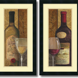 Amanti Art - Lisa Audit 'From the Cellar- set of 2' Framed Art Print 14 x 26-inch Each - Get your wine on with the From the Cellar set by Lisa Audit; a pair of great decor accents for the kitchen or dining area.