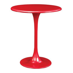 Standard Furniture - Ergo Round Pedestal Table, Red - Ergo offers a hip upbeat dining solution that is bold and modern, young and fun, and has an urban energy for living large in small spaces.