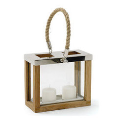 Avon Candle Lantern, Nautical With Rope Twist - Candlelight is perfect for late night summer dining, and these lanterns, especially used in multiples, would make a wonderful centerpiece. I love the nautical feel provided by the rope handle.