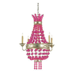 Currey and Company Maharani Traditional Chandelier, Small - I want this so badly. It's not cheap, but if you can afford one, it would be great in a white sitting room or a girl's room.