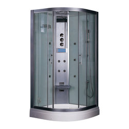 Ariel - Ariel Platinum DZ934F3 Steam Shower 35.5x35.5x87.5 - These fully loaded steam showers include massage jets, ceiling & handheld showerheads, chromotherapy, aromatherapy and built in radios to help maximize the therapeutic experience