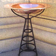 eclectic bird baths by GI Designs