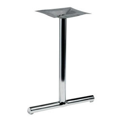"MTS Seating - 1500 Series Straight 22 in. w 2 in. Column Table Base (Cool White) - Finish: Cool White. The 1502 Table Base stands 22"" high with a sturdy 2"" column width.  Two of these well-designed bases can support 24"" to 36"" table top. * Pictured in polished chrome finish. Adjustable Glides - Threaded for manual adjustment. 2 Bases required per table. Base: 22 in.. Column: 2 in.. Mounting Plate: 16 in. x16 in.. Weight: 17 lbs.. Recommended Top: Rectangular 24 in. - 36 in."