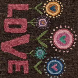 """Loloi Rugs - Loloi Rugs Skylar Collection - Brown / Pink, 2'-3"""" x 3'-9"""" - Make a big statement in small spaces with the Skylar Collection. Hooked in India of 100% wool, the designs bring colorful, bold attitude perfect for entry ways, bathrooms, and kid's rooms.�"""