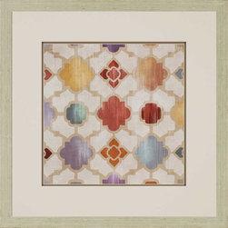 Paragon Decor - Galactica II Artwork - Geometric prints feature raised matting.  Framed in aged silver finish wood.