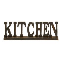 Authentic and Decorative Wood Kitchen Sign, Set of 2 - Description: