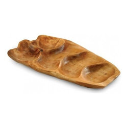 Enrico - Enrico Root Wood Small Appetizer Platter Natural Shape - Features: