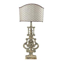 Dimond Lighting - 93-9141-LED Avignon Table Lamp, Avignon White - Traditional Table Lamp in Avignon White from the Avignon Collection by Dimond Lighting.