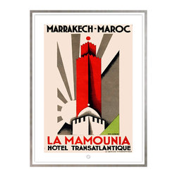 Studio Eight - LA MAMOUNIA, MARRAKESH, GOLDEN AGE OF TRAVEL VINTAGE ART RESORATION SERIES - LA MAMOUNIA, MARRAKESH.