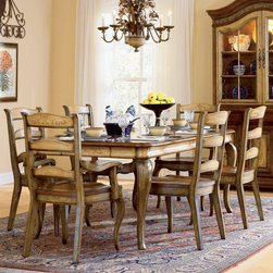 Hooker Furniture - Hooker Furniture Vineyard 18-inch Rectangle Dining Table with 2 leaves 478-75-20 - Includes Hooker Furniture Vineyard 18 inch Rectangle Dining Table with two leaves 478-75-200 only.