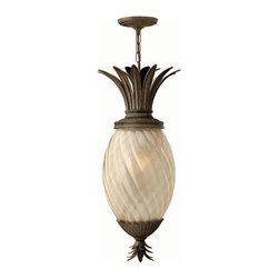 Hinkley Lighting - Hinkley Lighting 2122PZ Plantation Lantern in Pearl Bronze - Hinkley Lighting 2122PZ Plantation Lantern in Pearl Bronze