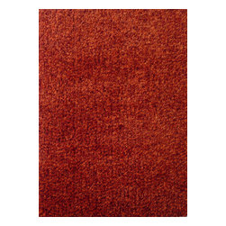 Rug - ~5 ft. x 7 ft. Authentic Red Living Room Area Rug, Shaggy & Hand-tufted - Living Room Hand-tufted Shaggy Area Rug