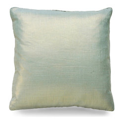 """Metallic Velvet Pillow - Aloe - 20"""" - This square aloe accent cushion flashes small points of light in an even shimmer where they wink from within the rich texture of the Metallic Velvet Pillow. Add it to your home for instant opulencein a chair, bed or sofa of your choosing, adding new pillows are a decorators best kept secret to updating the look of a space fantastically with minimal effort."""