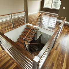 contemporary staircase by Habitat Studio &amp; Workshop