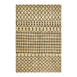 Rhodes – Cream/Chocolate Rug - Your friends will be sure you found this beautiful rug in an exotic souk halfway around the world. Comes in several sizes.