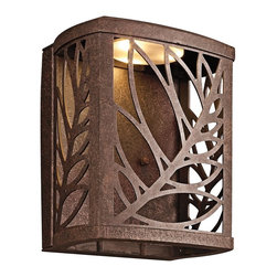KICHLER - KICHLER 49250AGZLED Takil LED Contemporary Outdoor Wall Sconce - The Takil™ Collection from Kichler Lighting.  LED Outdoor lighting in Aged Bronze. Dark Sky requirements. Photocell included.