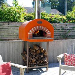 Mugnaini Outdoor Wood Fired Ovens - Pizza Oven - Mugnaini Wood Fired Oven - Medio Oven with Barrel  Roof enclosure.