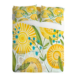 Sunny Day Sheets - If you're ready to take comfort to new bounds, let us suggest these delightfully soft sheets. With a beautifully modern design of a sunny day, your room will really pop with color and positive energy. It's safe to say that you're never going to want another kind of sheet after you slip into these.