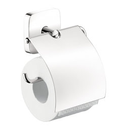 Hansgrohe - Hansgrohe 41508000 Puravida Paper Roll Holder in Chrome - Paper Roll Holder in Chrome belongs to Puravida Collection by Hansgrohe The Hansgrohe PuraVida Brass Toilet Paper Holder in Chrome features a cover for the toilet paper to help keep it clean before use. The included mounting hardware helps make installation quick and easy.  Paper Roll Holder (1)