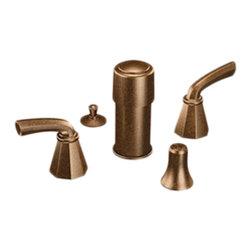 Moen - Moen S445ORB Bidet Faucet Oil Rubbed Bronze - Moen Showhouse S445ORB Felicity two handle Bidet Faucet - Oil Rubbed Bronze