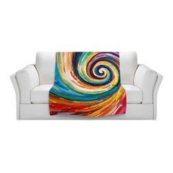 DiaNoche Designs - Throw Blanket Fleece - Spiral II - Original Artwork printed to an ultra soft fleece Blanket for a unique look and feel of your living room couch or bedroom space.  DiaNoche Designs uses images from artists all over the world to create Illuminated art, Canvas Art, Sheets, Pillows, Duvets, Blankets and many other items that you can print to.  Every purchase supports an artist!
