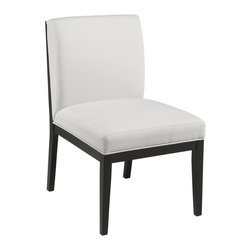 Sunpan - Othello Faux Leather Dining Side Chair - Set of 2 - SUNP242 - Shop for Dining Chairs from Hayneedle.com! The Othello Faux Leather Dining Side Chair - Set of 2 is timeless a masterpiece that belongs in any contemporary collection. The stout solid wood frame is finished in black. Rich faux leather upholstery in your choice of color envelops a cushioned seat and backrest.About SunpanSunpan is a global furniture company. They specialize in designing and manufacturing contemporary- and transitional-style furnishings. Sunpan takes pride their designs which reflect international trends in fashion and interior design. Sunpan is the ideal choice for your modern home.