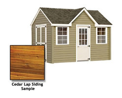Fifthroom - Chalet Shed with Cedar Lap Siding -