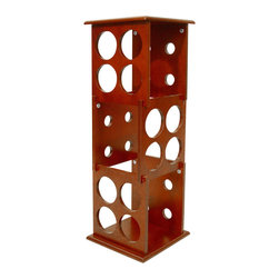 Proman Products - Proman Products Wine Holder Fuji 3 Layer Wine Rack in Mahogany - Fuji 3 layer wine rack, hold 12 bottles, mahogany finish, middle section can be removed.