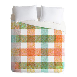 DENY Designs - Zoe Wodarz Pastel Plaid Duvet Cover - Turn your basic, boring down comforter into the super stylish focal point of your bedroom. Our Luxe Duvet is made from a heavy-weight luxurious woven polyester with a 50% cotton/50% polyester cream bottom. It also includes a hidden zipper with interior corner ties to secure your comforter. It''_s comfy, fade-resistant, and custom printed for each and every customer.
