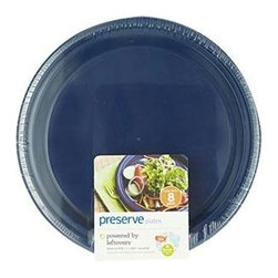 Preserve Large Reusable Plates - Midnight Blue - Case Of 12 - 8 Pack - 10.5 In - Powered by Leftovers
