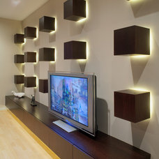 contemporary home theater by Wright Street Design Group Inc.