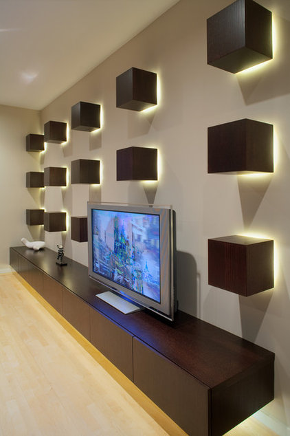 contemporary media room by Wright Street Design Group Inc.