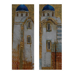 Sterling Industries - Fulvio Dot Canvas Wall Art, Set of 2 - Exclusive fulvio dot print on canvas by Sterling Industries