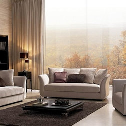 Livingston 3-Pieced Home Sofa Set - Contoured frames, extra soft padded seating and three separate pieces highlight this Livingston Home Sofa Set.